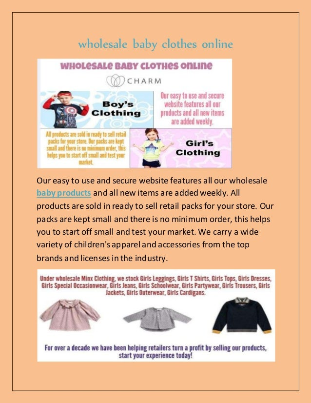 Discount baby clothes online