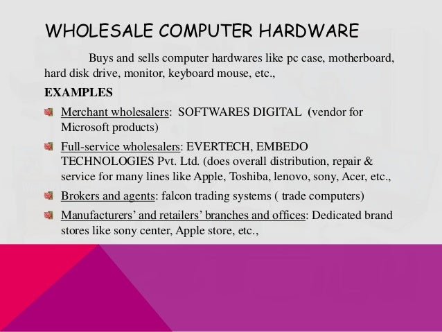 wholesale computer hardware