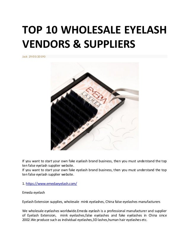 Wholesale eyelash vendors and suppliers