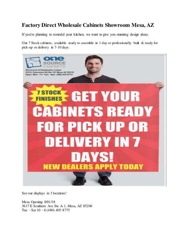 Wholesale Factory Direct Cabinet Dealer Showroom Mesa Az