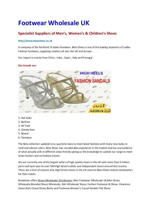 Wholesale footwear,Shoes Wholesaler