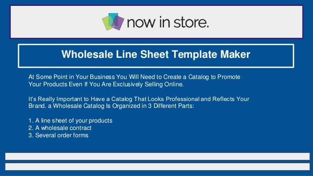 Wholesale Line Sheet Template Maker At Some Point In Your Business You Will Need To Create