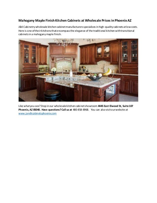 Wholesale Mahogany Maple Finish Kitchen Cabinets with J&K ...