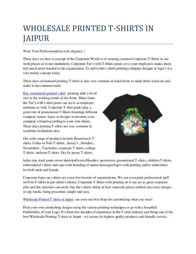 c988864982 Wholesale printed t shirts in jaipur