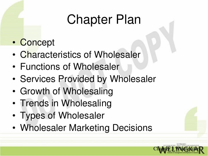 what are the functions of a wholesaler