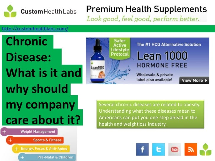 http://customhealthlabs.com/ Chronic Disease: What is it and why should my company                    Several chronic dise...