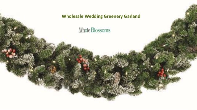 wholesale wedding greenery garland 2 - Christmas Greenery Wholesale