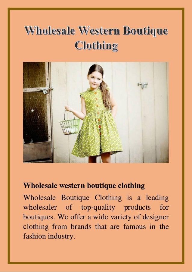 Wholesale Western Boutique Clothing