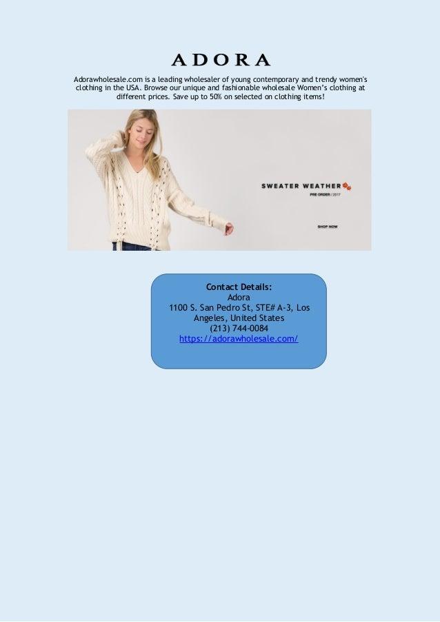 Adora Wholesale Trendy Women S Clothing In Usa