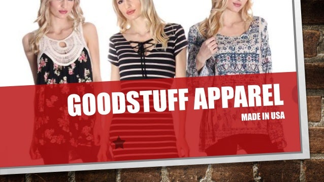 Wholesale Womens Clothing USA - Goodstuff Apparel