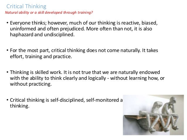 critical thinking nine strategies for everyday life essay Critical thinker - essay example nobody downloaded yet extract of sample critical thinker critical thinking mainly involves a set of skills that a critical thinker has mastered or uses the article critical thinking in everyday life: 9 strategies provides a clear guideline of steps.