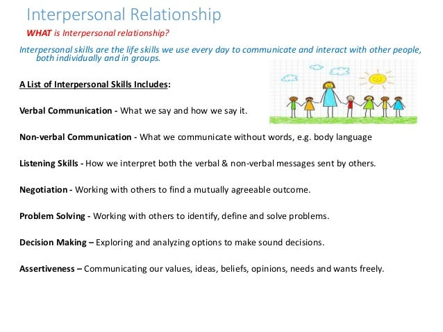 Interpersonal Relationship Interpersonal ...
