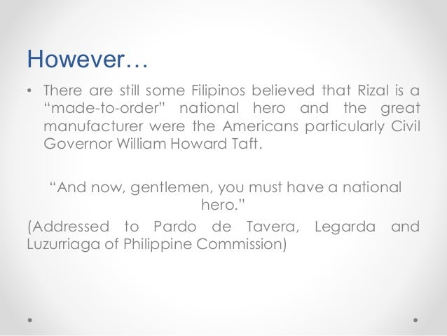 who declared rizal as a national hero