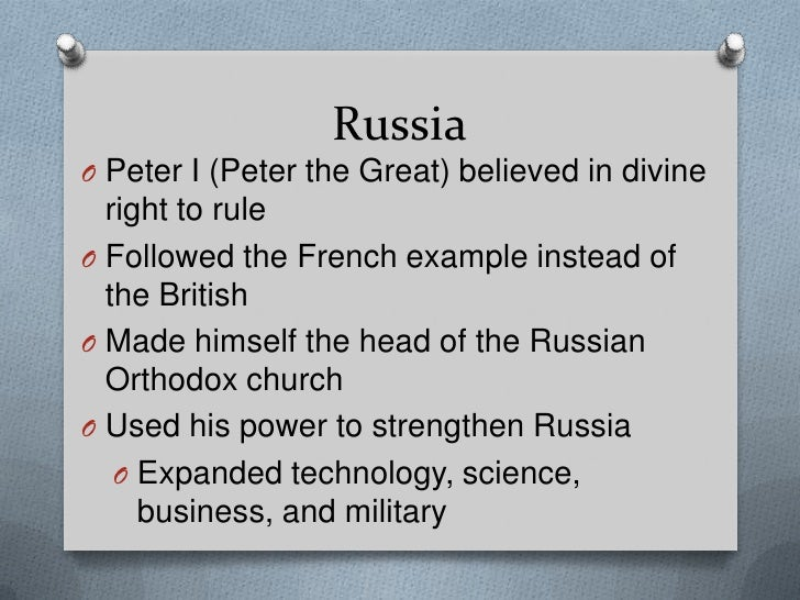 comparing the rule of peter the great and louis the xiv Global history 10: chapter 21 study  one similarity in the rule of peter the great, suleiman i, and louis xiv is that each leader  king louis xiv of france .