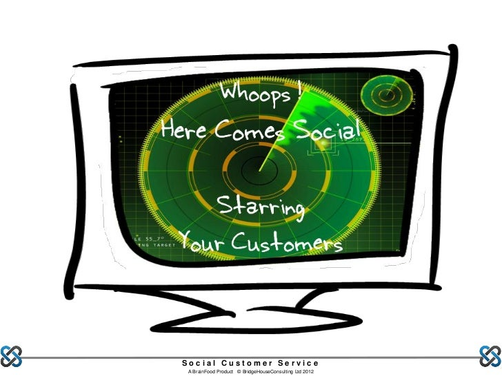 Whoops !Here Comes Social    Starring Your Customers Social Customer Service  A BrainFood Product © BridgeHouseConsulting ...