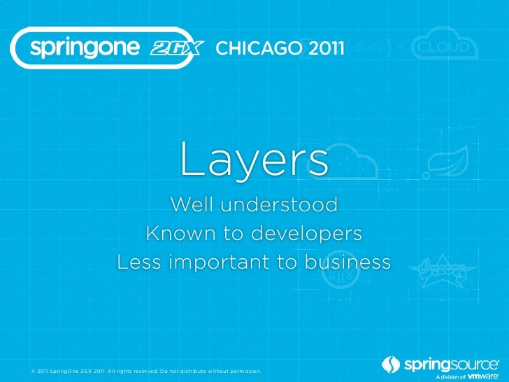 Layers                                    Well understood                                 Known to developers             ...