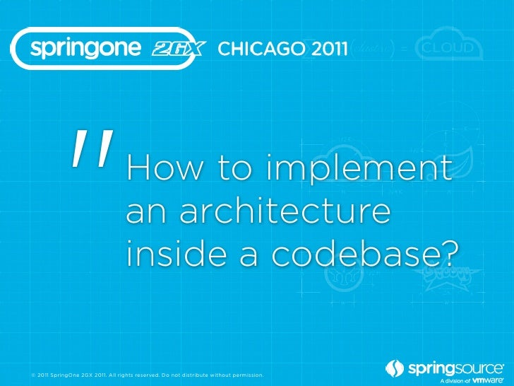 """""""                      How to implement                                  an architecture                                  ..."""