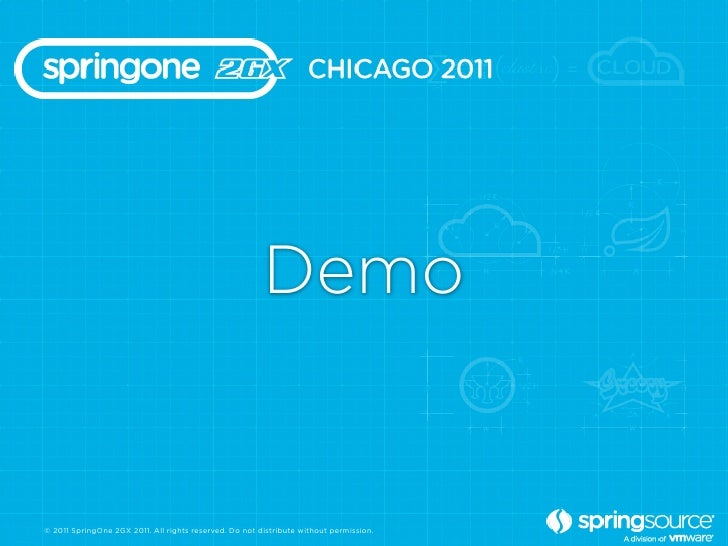 Demo© 2011 SpringOne 2GX 2011. All rights reserved. Do not distribute without permission.
