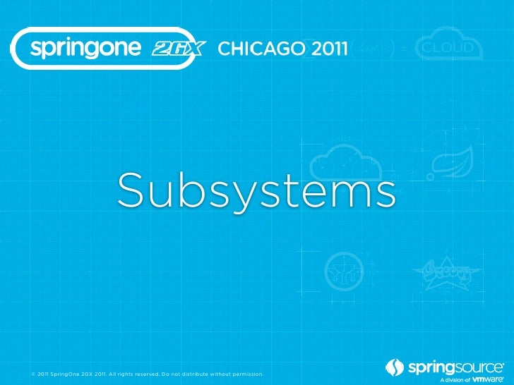 Subsystems© 2011 SpringOne 2GX 2011. All rights reserved. Do not distribute without permission.