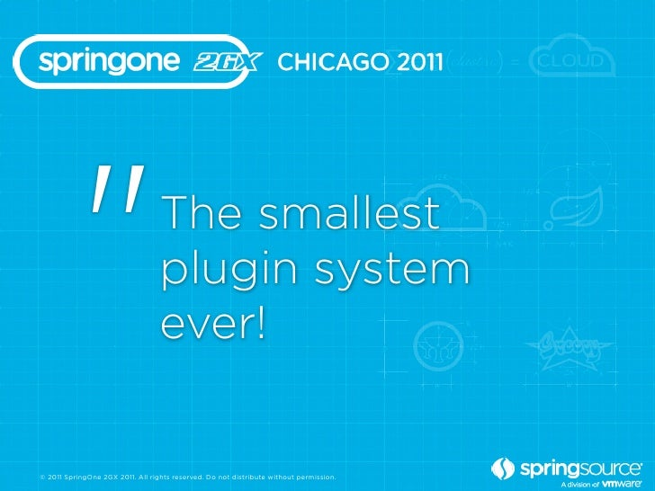 """""""                      The smallest                                  plugin system                                  ever!©..."""