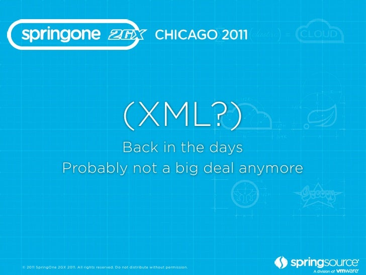 (XML?)                           Back in the days                    Probably not a big deal anymore© 2011 SpringOne 2GX 2...