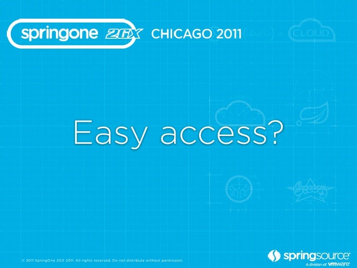 Easy access?© 2011 SpringOne 2GX 2011. All rights reserved. Do not distribute without permission.
