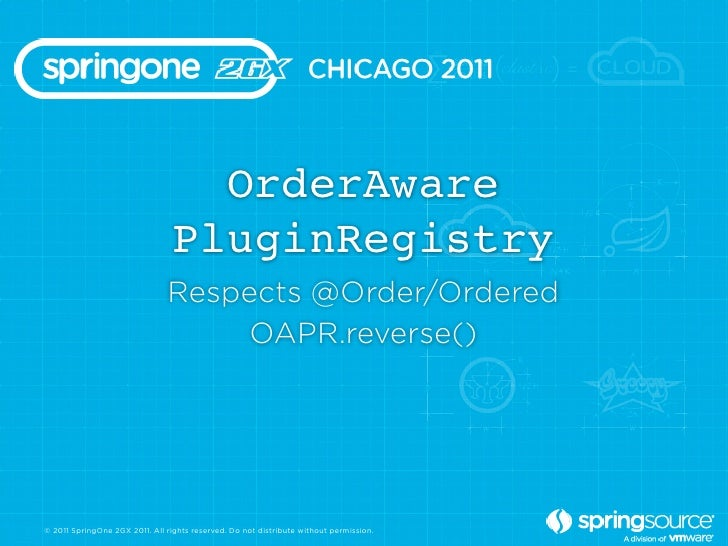 OrderAware                                 PluginRegistry                               Respects @Order/Ordered           ...