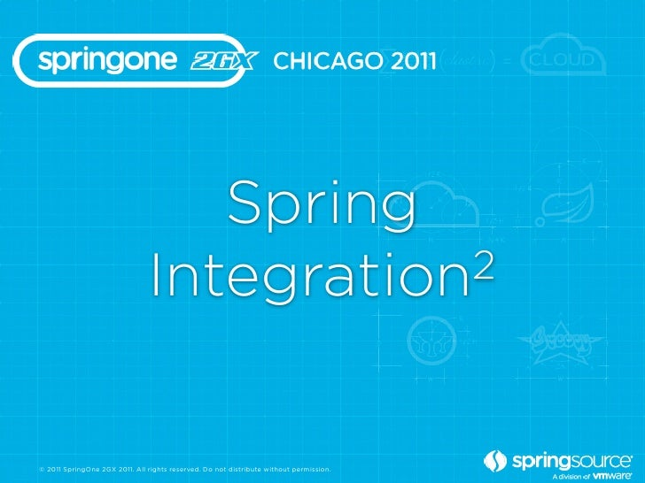 Spring                               Integration 2© 2011 SpringOne 2GX 2011. All rights reserved. Do not distribute withou...