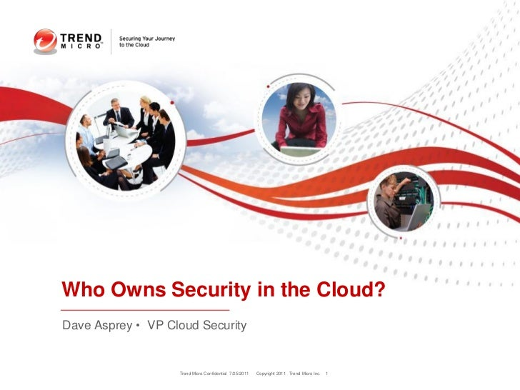 Who Owns Security in the Cloud?Dave Asprey • VP Cloud Security                   Trend Micro Confidential 7/25/2011   Copy...