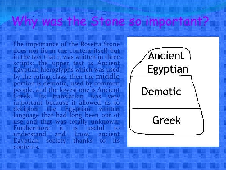 Who really owns the Rosetta Stone? English team