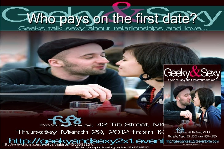 Who pays on the first date?http://www.flickr.com/photos/bigbirdz/4506598157/