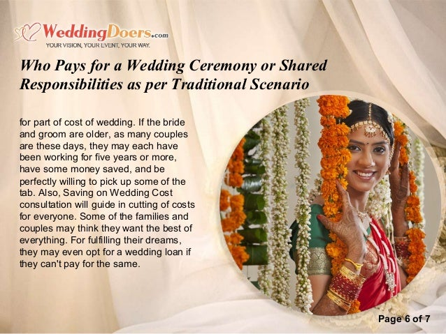 Who pays for a wedding ceremony or shared responsibilities as per tra who pays for a wedding ceremony or shared responsibilities a 7 sciox Images