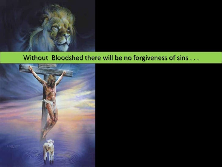 Without Bloodshed there will be no forgiveness of sins . . .