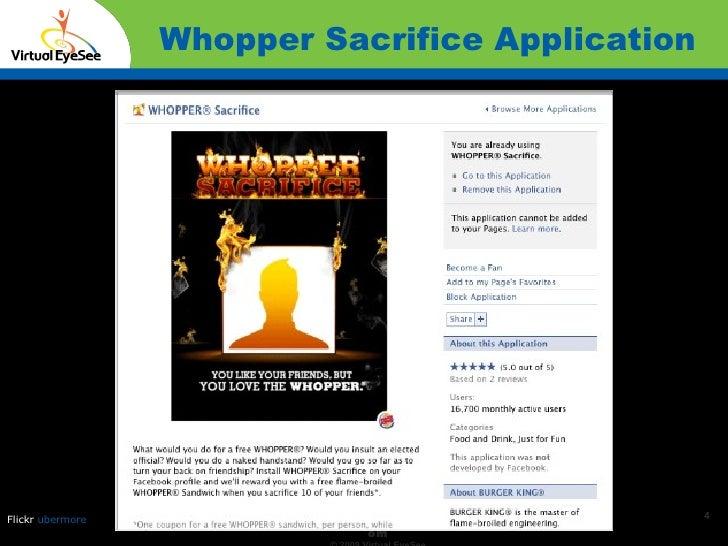 Whopper Sacrifice Application Confidential Flickr  ubermore