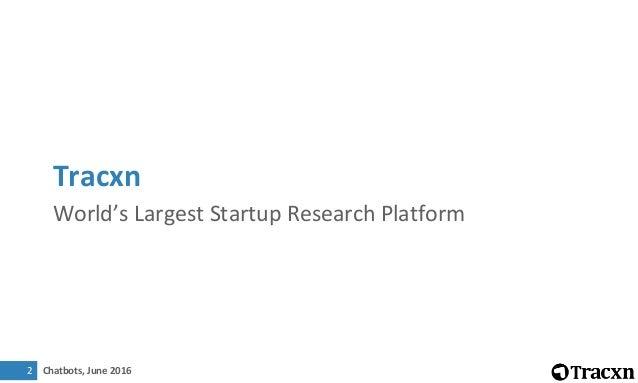 Tracxn Research - Chatbots Startup Landscape, June 2016 Slide 2