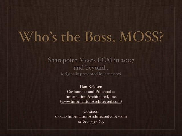 Whos The Boss, Moss