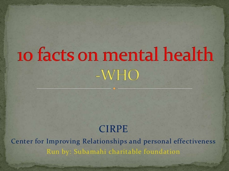 CIRPECenter for Improving Relationships and personal effectiveness           Run by: Subamahi charitable foundation