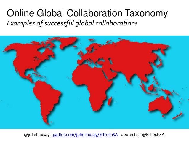 Example: Cyberfair (Global SchoolNet) http://www.globalschoolnet.org/gsncf/ Example: Out of Eden Walk to Learn (Paul Salop...