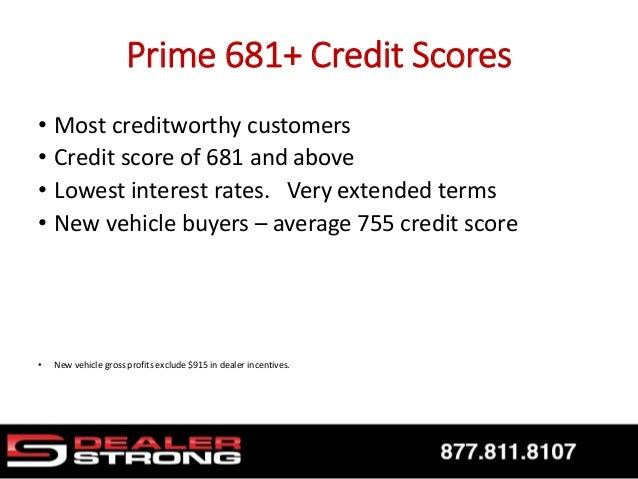 What S The Average New Car Buyers Credit Score