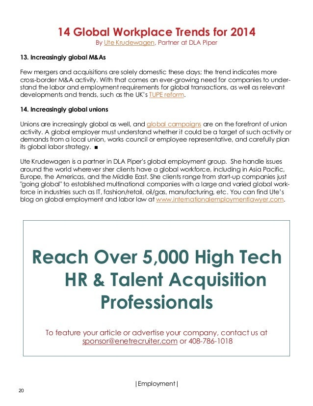 an analysis of the new trend developing in the recruiting of high tech employees The hirevue blog produces content to help you identify the best talent, faster  talent acquisition tech, trends, and analysis back to blog read more october 18, 2018 the future of recruiting is here: 3 areas to keep an eye on by troy teague, director of recruiting, cerner.