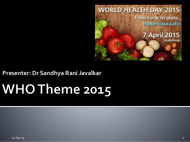 Presenter: Dr Sandhya Rani Javalkar 07-Apr-15 1