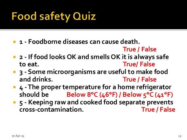 SlideShare  Food Safety Quiz