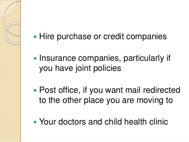 Who to notify when your marriage is over - Post office joint account ...
