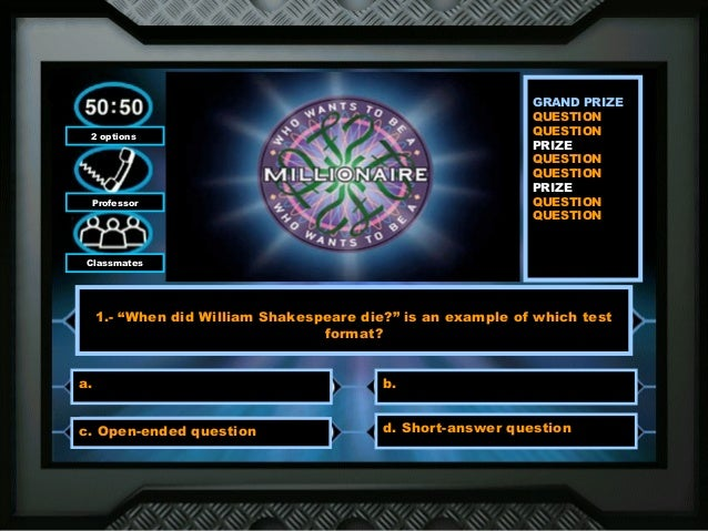 who wants to be a millionaire?, Powerpoint templates