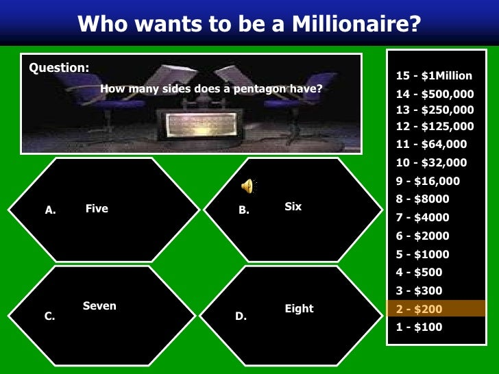 Who Want To Be A Millionaire Template Powerpoint With Sound Who