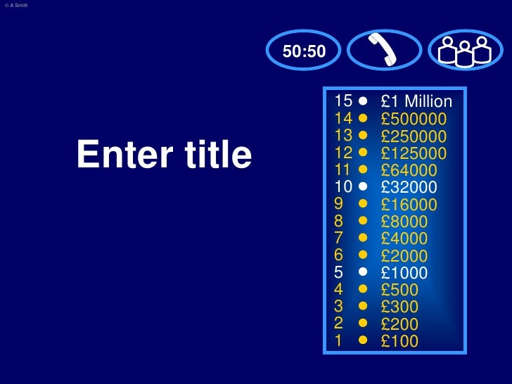 who wants to be a millionaire? template, Powerpoint templates