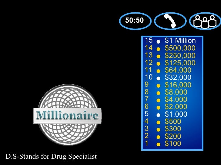 50:50                                         15   $1 Million                                         14   $500,000       ...