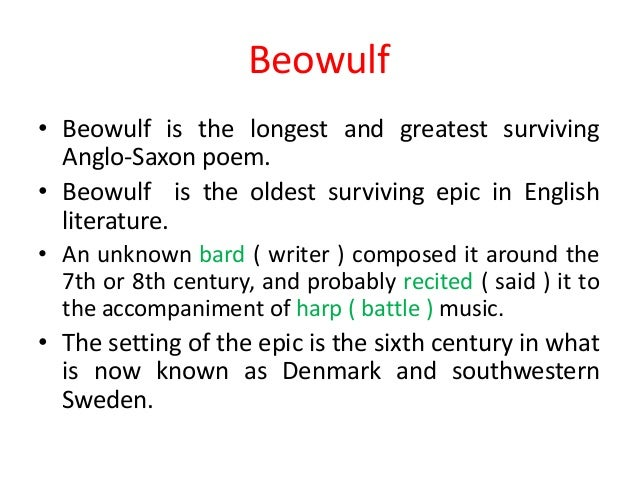 an analysis of the story of beowulf an anglo saxon epic Beowulf - analysis appunto con beowulf beowulf is an anglo-saxon epic poem written by unknown author between about 8th and in fact, the story tells about this.