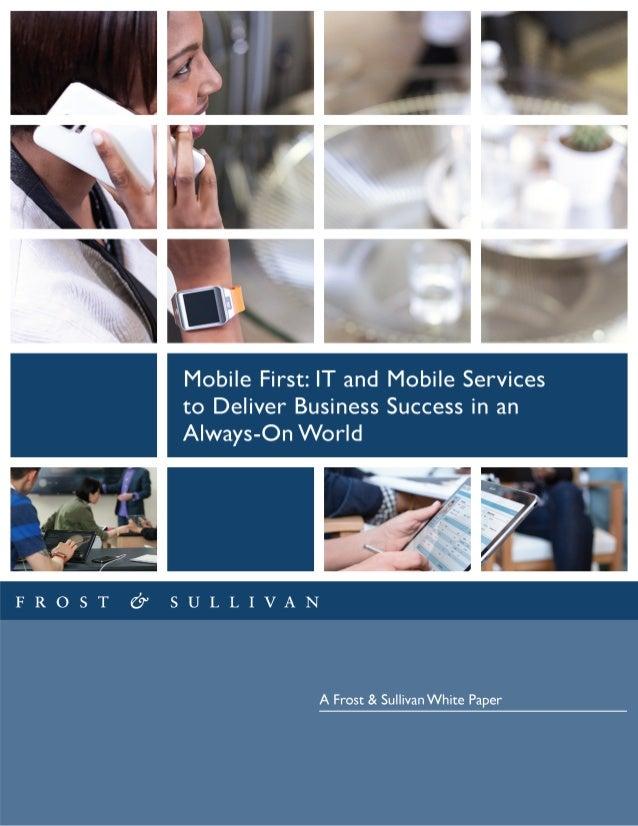 FROST or SULLIVAN  A Frost & Sullivan White Paper