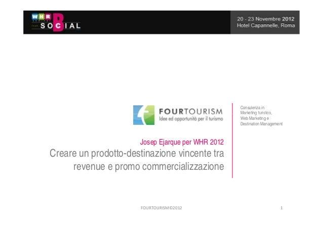 Consulenza in                                                   Marketing turistico,                                      ...